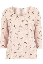 Reindeer Print Pyjamas