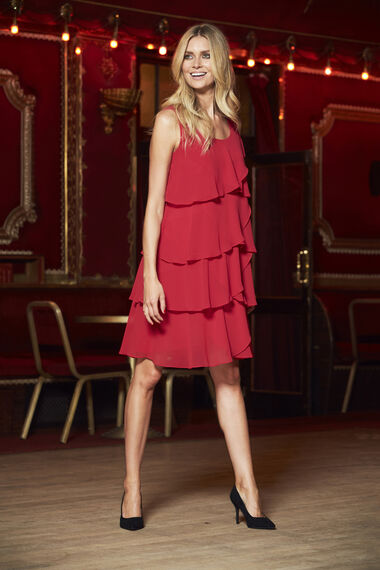 Ann Harvey Tierred Chiffon Dress