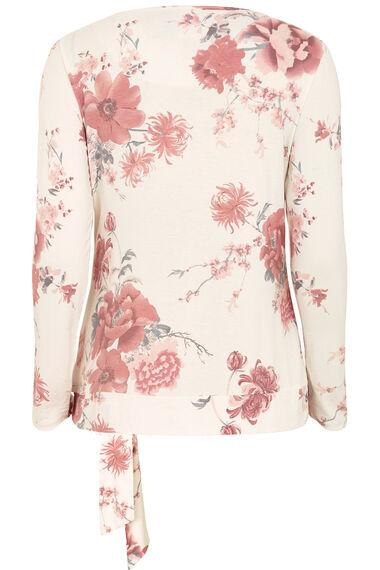 Floral Print Tie Detail Top