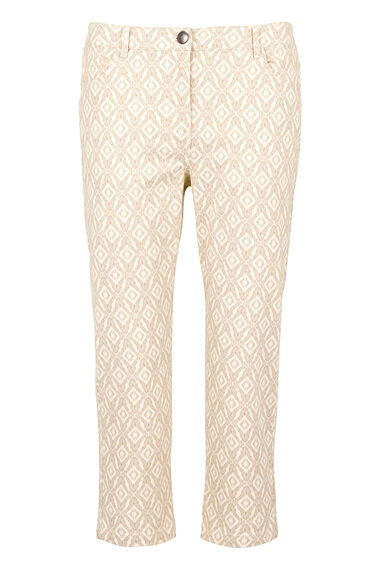 Ikat Printed Capri Trousers