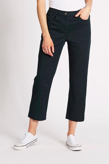 Cotton Stretch Capri Trousers