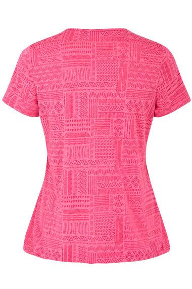 Linear Aztec Print T-Shirt