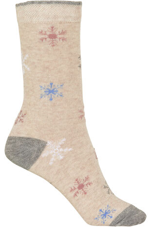 Snowflake Lurex Socks
