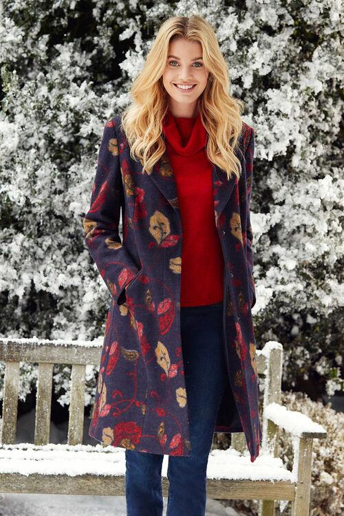 Smart Floral Printed Coat