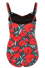 Carnation Print Ruched Swim Suit