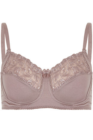 Swirl Embroidery Trim Non Wired Bra
