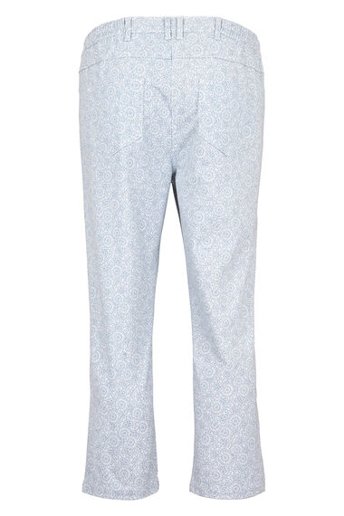 Moroccan Wheel Print Capri Trousers