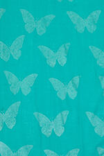 Butterfly Foil Print Scarf