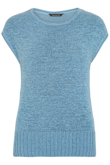 Tape Yarn Short Sleeved Jumper