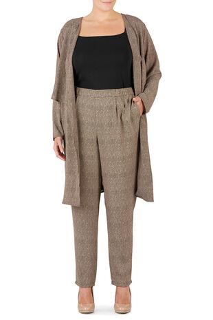 Ann Harvey Mesh Printed Tapered Leg Trouser