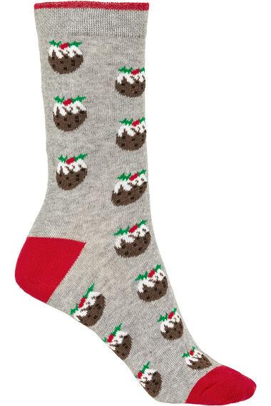 Christmas Pudding Socks