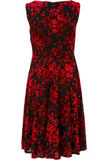 Sleeveless Jacquard Dress