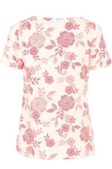 Boat Neck Floral T-Shirt