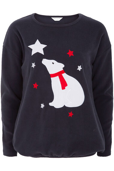 Polar Bear Fleece Top Pyjamas
