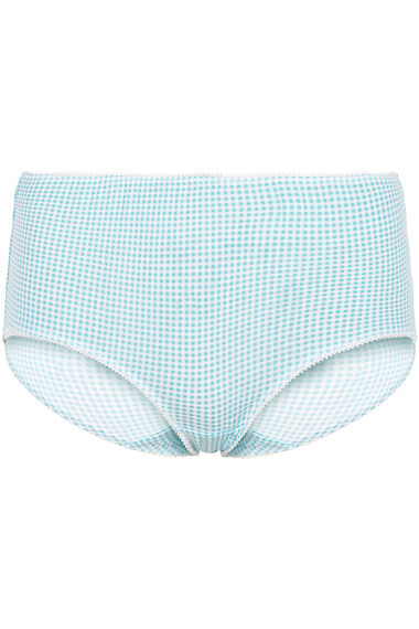 Five Pack Feather Check Briefs