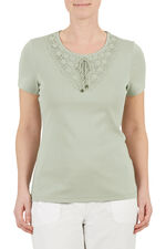 Lace Up Detail T-Shirt