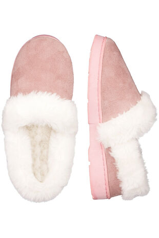 Fur Trim Full Slipper