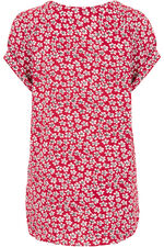 Ditsy Floral Print V-Neck Top