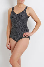 Square Spot Print Swimsuit