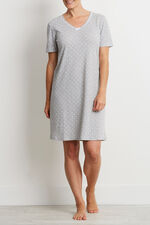 White Spot Grey Honeycomb Nightdress