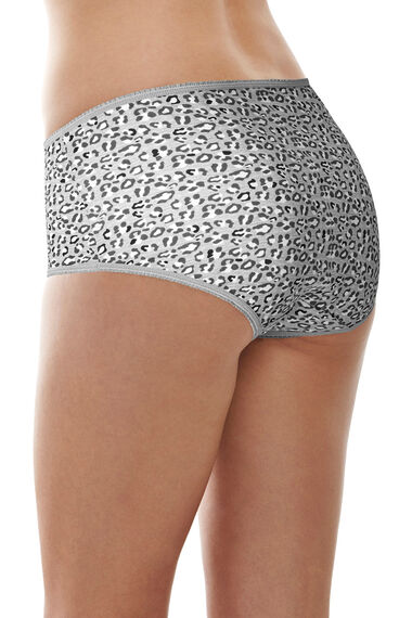 5 Pack Grey Animal & Spot Print Briefs