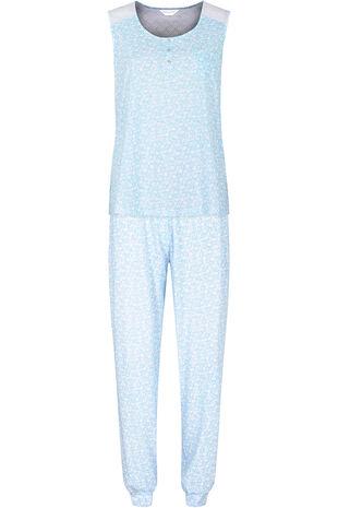 Leaf Print Cuffed Hem Pyjamas