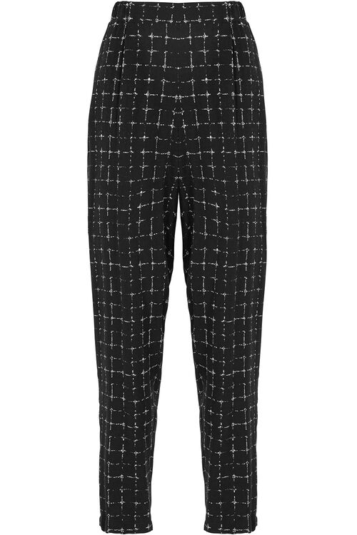 Check Print Harem Trousers