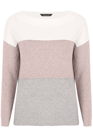 Soft Touch Lightweight Colour Block Top