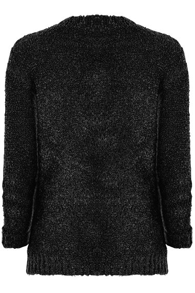 Boucle Zip Up Cardigan