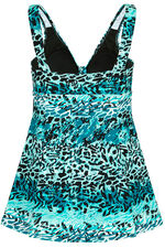 Jade Animal Print Swim Dress