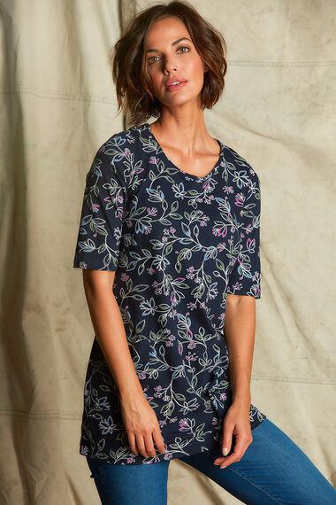 Printed Cotton Jersey Tunic