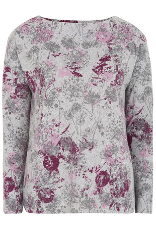 Floral Printed Sweat Top