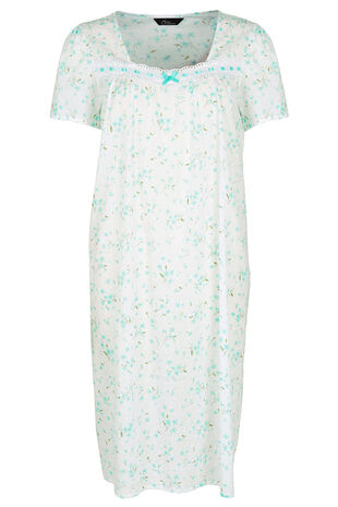 Swiss Dot Printed Nightdress