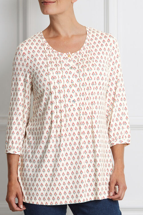 Ann Harvey Fan Tile Print Top