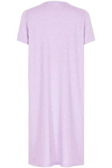 Lilac White Spot Print Nightdress