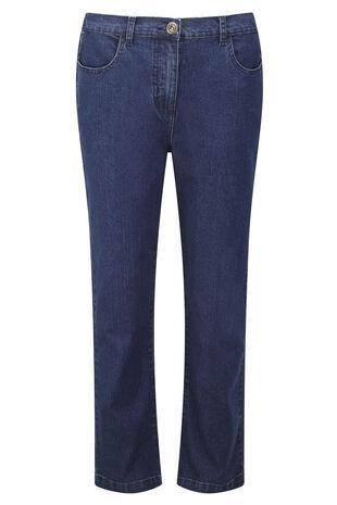 Straight Leg Stretch Denim Jeans