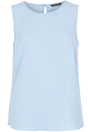 Sleeveless Plain Crepe Top