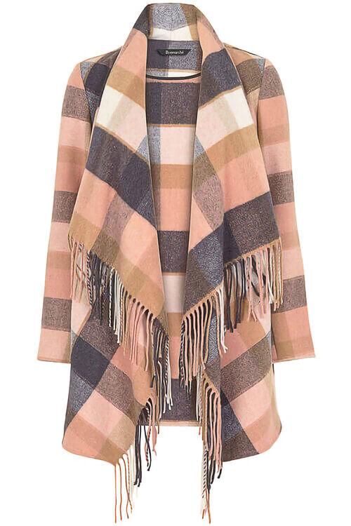 Check Blanket Coat