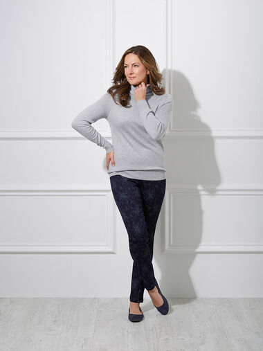 Roll Neck Jumper With Silk