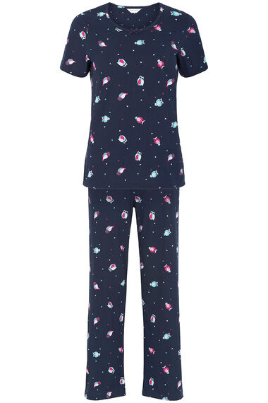 Gift Wrapped Owl Print PJ Set