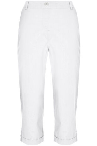 Cotton Essential Cropped Trousers