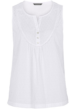 Swiss Dot Woven Pyjama Vest Top