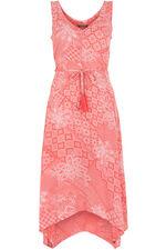 Tile Print Hanky Hem Day Dress