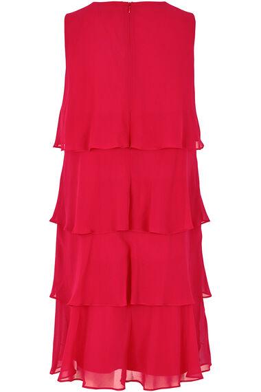 Ann Harvey Tiered Chiffon Dress