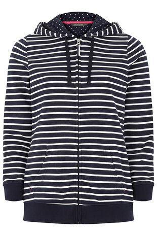 Stripe Zip Thru Hoody