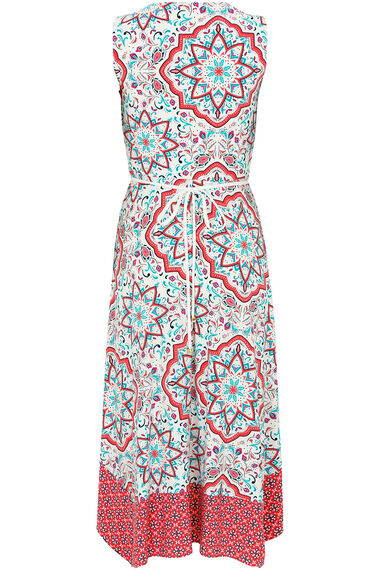 Printed Hanky Hem Dress