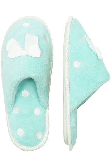 Embroidered Spot Closed Toe Mule