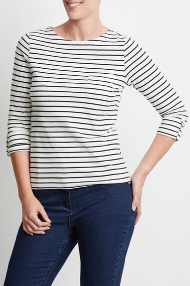 Cotton Feeder Stripe T-Shirt
