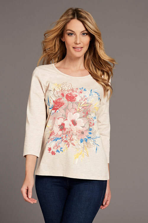 Floral Placement Print T-Shirt