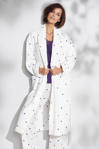 Spot Shawl Collar Robe